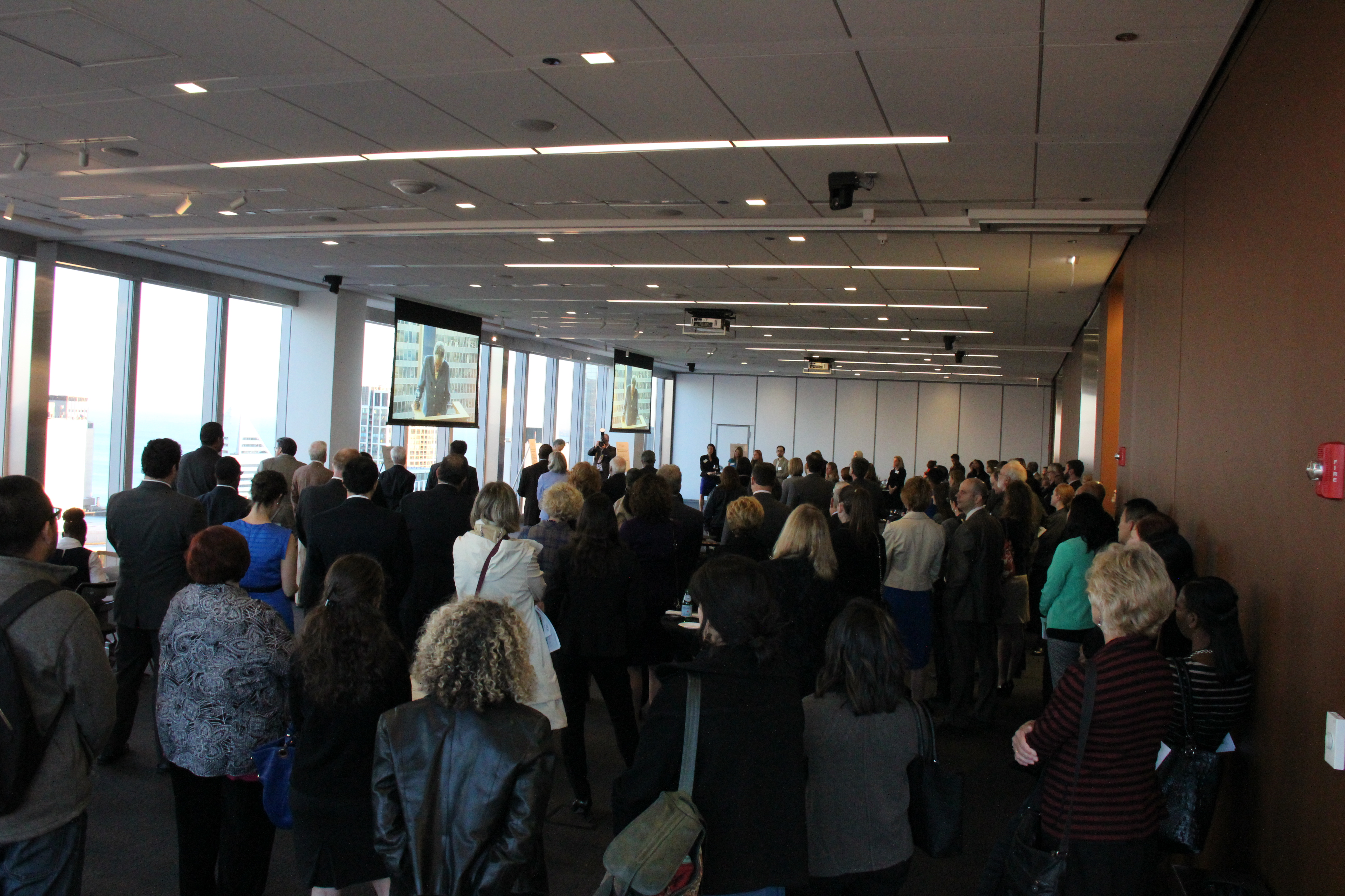 Lots of people came to honor Jeffrey Colman & Toni Preckwinkle