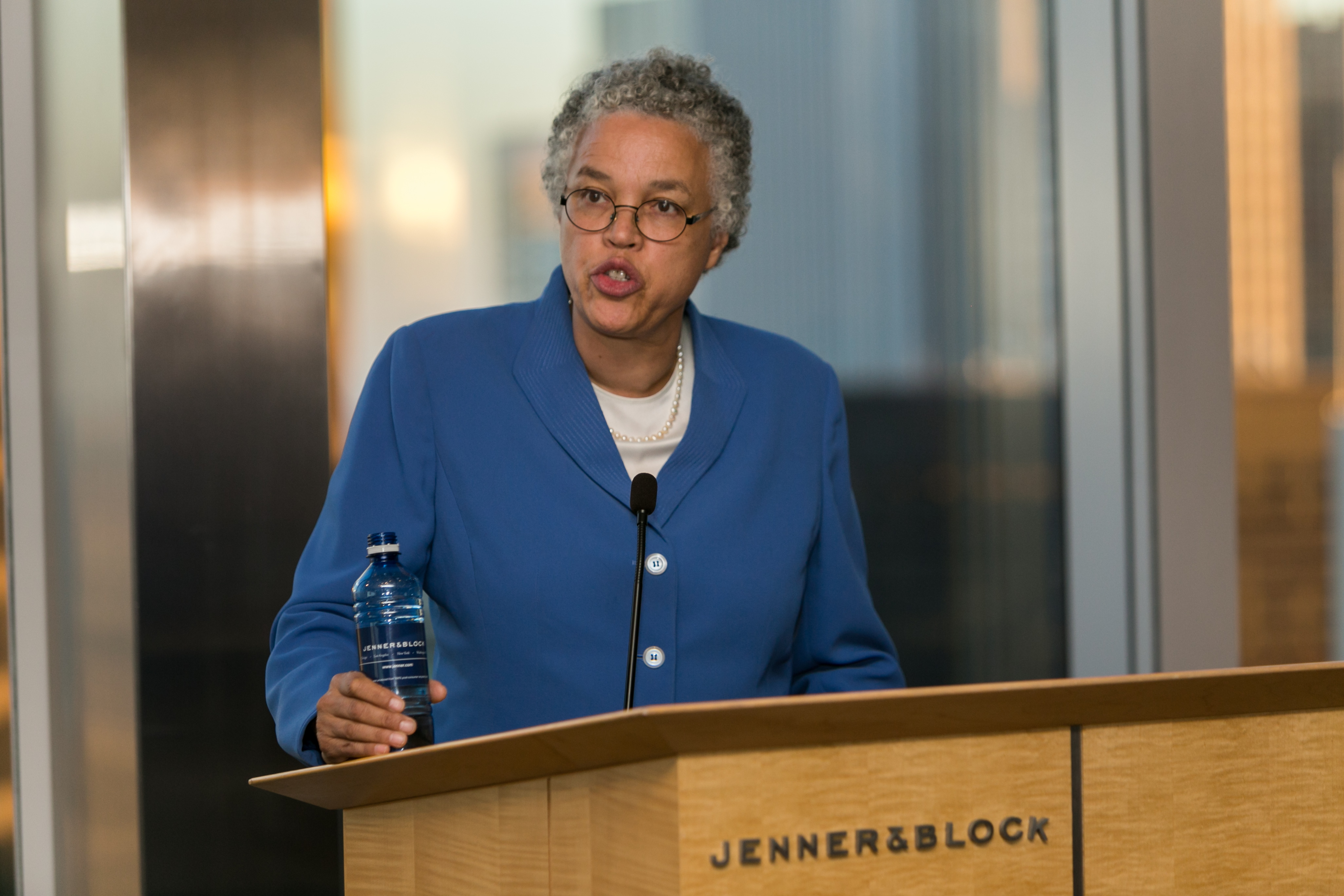 Our honoree Toni Preckwinkle, President of Cook County Board of Commissioners